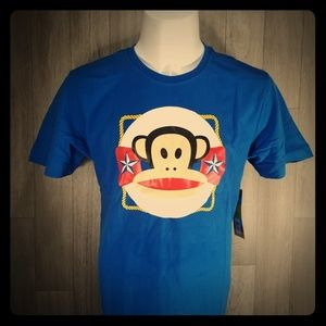 JR Men's Blue Paul Frank Cotton Graphic Tees